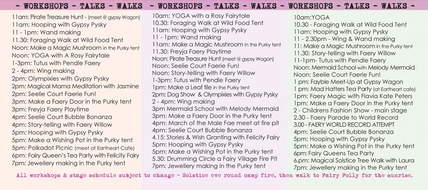 3WFF Workshops 3 Wishes Faery Fest 2015