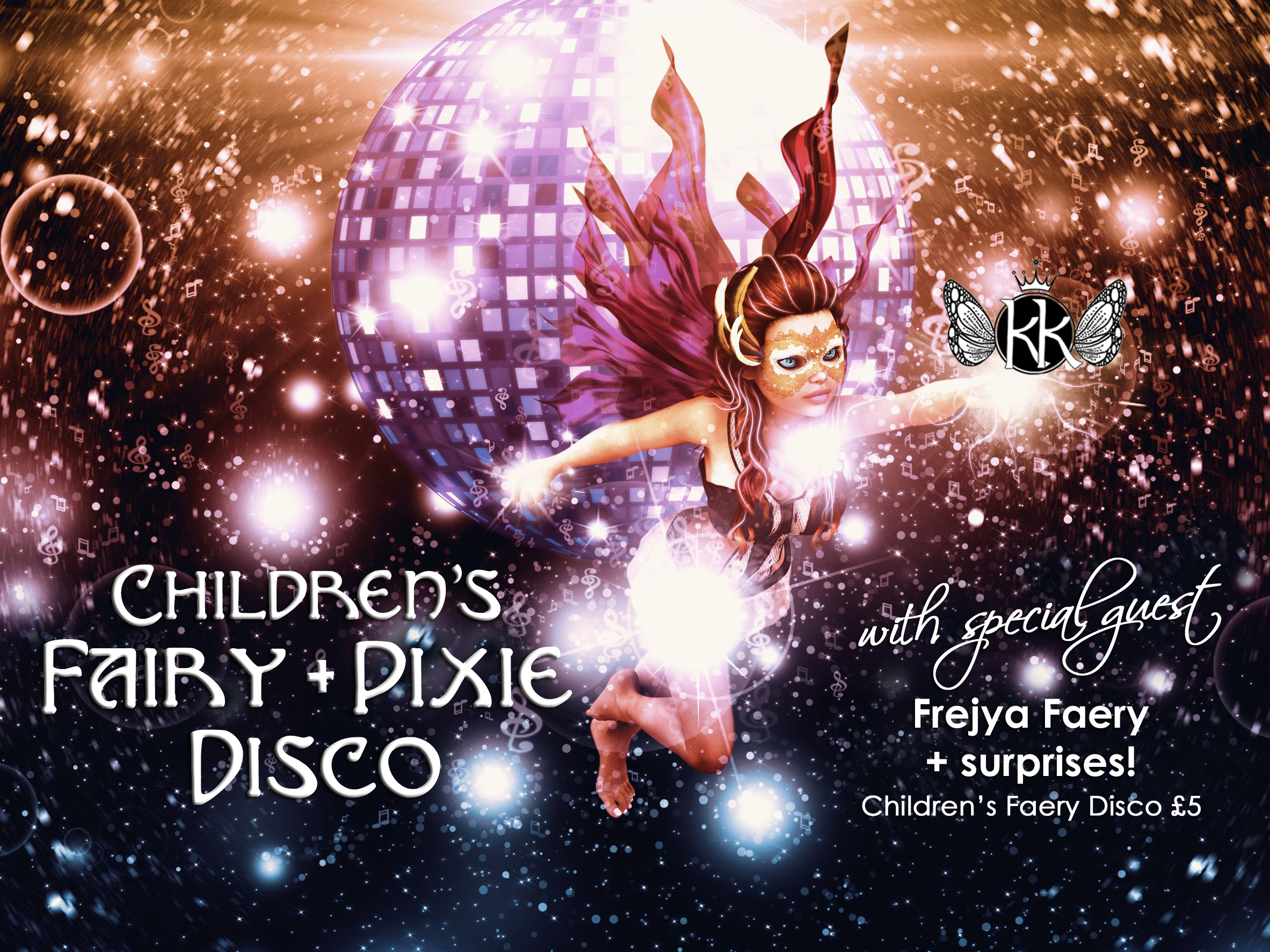 14644092 - abstract party poster with disco ball and fairy