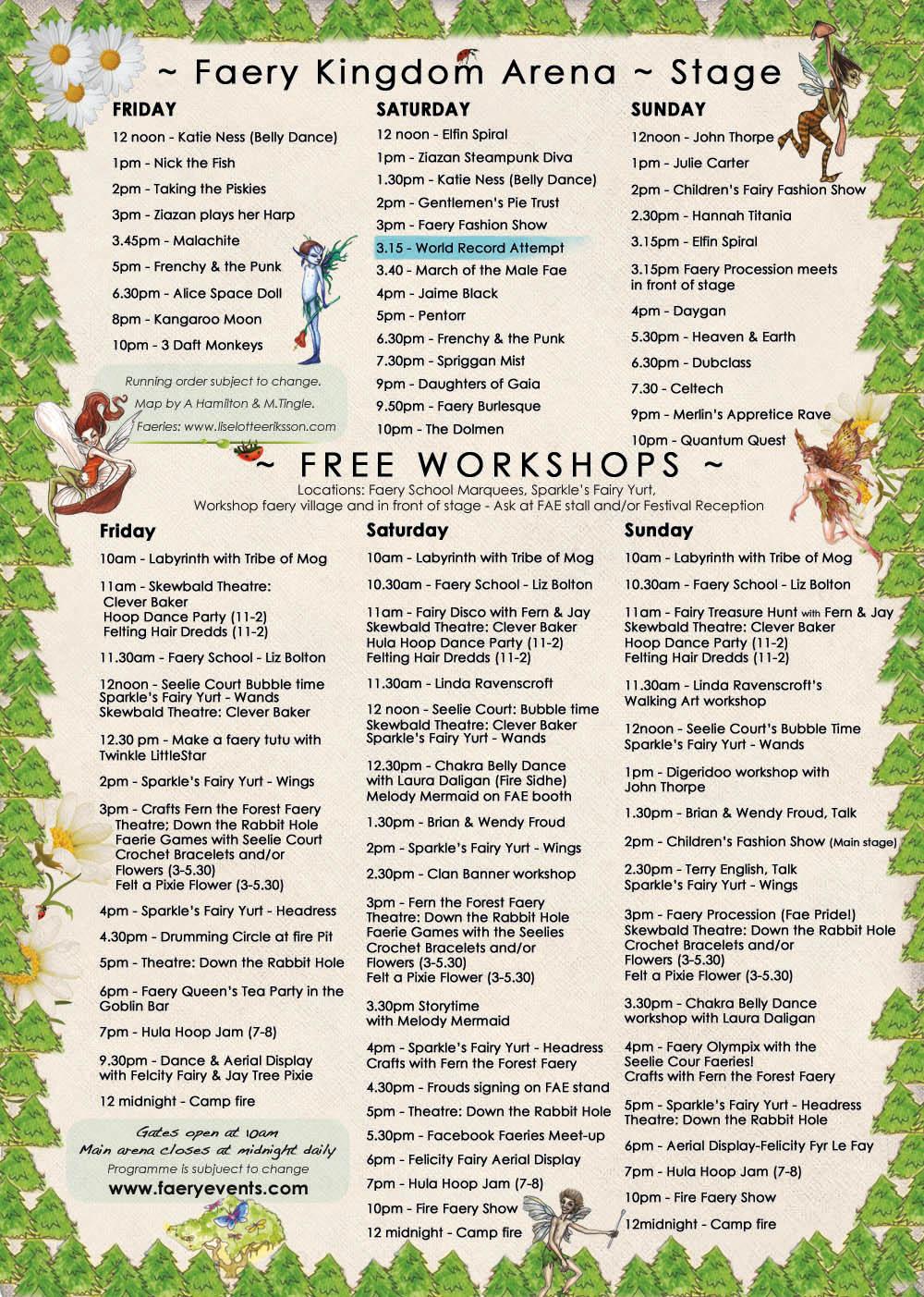 faery fest WORKSHOPS 2012 web1 Workshops & Map